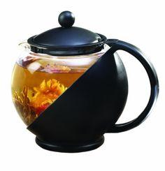 Primula Flowering Tea Set with Half-Moon 40-Ounce Pot, Black/Glass by Epoca Inc., http://www.amazon.com/dp/B002T1TUHC/ref=cm_sw_r_pi_dp_Mwhzrb1ZH7N1S