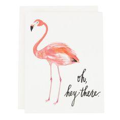 Lady Flamingo Card