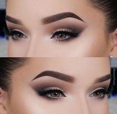 Pin by Taylor Newman on Make Up in 2019 Makeup Eye Looks, Smokey Eye Makeup, Eyebrow Makeup, Skin Makeup, Eyeshadow Makeup, Glam Makeup, Makeup Inspo, Bridal Makeup, Wedding Makeup