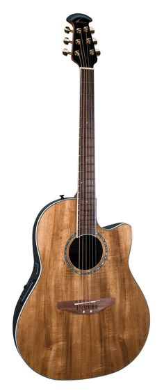 My guitar :) It's an Ovation Celebrity with a Koa top.
