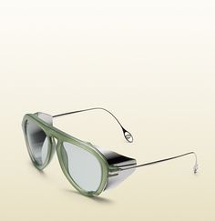 Gucci - optyl aviator sunglasses with metal blinkers 367083J13503055 Je  T aime, Haute Couture bd75c93c99e3