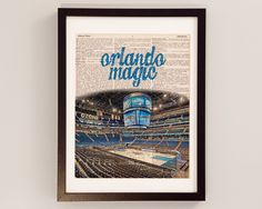 Orlando Magic Dictionary Art Print Amway Center by DictionArt