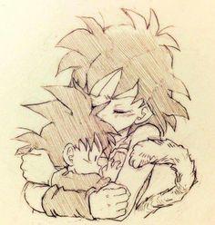 Goku and Gine