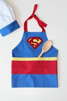 Kit Avental Infantil Coleção Herói - Super-Chefe