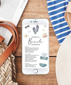 Easily text the weekends agenda to everyone with this lovely editable weekend itinerary! Great for bachelorette parties, girls weekends or a fun getaway with friends! Bachelorette Itinerary, Beach Bachelorette, Mani Pedi Spa, Home Computer, Cape May, Girls Weekend, How To Memorize Things, Templates, How To Plan