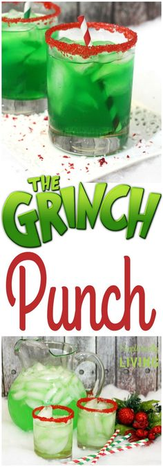 Grinch Punch- Grinch Punch The Grinch Punch – a deliciously green punch that is as… - Christmas Party Food, Christmas Desserts, Holiday Treats, Holiday Recipes, Christmas Holidays, Xmas, Christmas Foods, Christmas Party Ideas For Adults, Chrismas Party Ideas