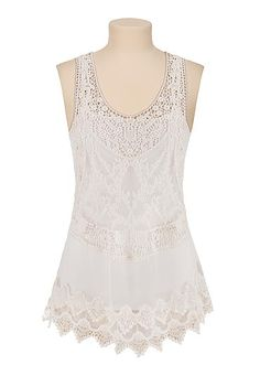 crochet racerback tank (original price, $29) available at #Maurices