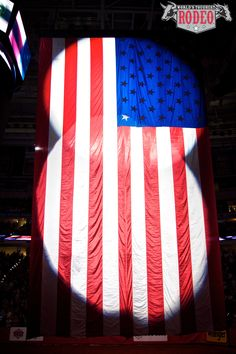 Old Glory at the RBC Center in Raleigh, NC (World's Toughest Rodeo on 1/21/12).