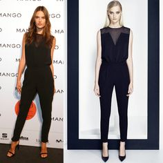 We're Already Creating Our Spring Wish Lists After Seeing This Week's Cheap Celeb Finds  Alessandra Ambrosio's Dress Mango Polka-Dot Chiffon Panel Jumpsuit, $119  Although I am morally opposed to jumpsuits, this is a cute one. And if your life takes you places where this could be useful, $119 is not too bad since it is a top and a bottom combined.