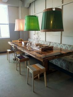 tafel piet hein eek Decor, Interior, Living Dining Room, Creative Lamps, Eclectic Interior, Cool Chandeliers, Interior Styling, Cafe Furniture, Industrial Style Interior