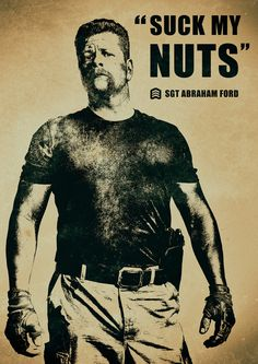 The Walking Dead Abraham Ford 'Suck My Nuts' by ExtremepandaDesign