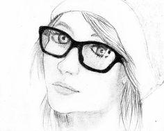 dibujos a lapiz de chicas hipsters - Buscar con Google