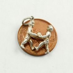 Vintage Sterling Silver Gemini Charm Zodiac Sign 3D by mybooms