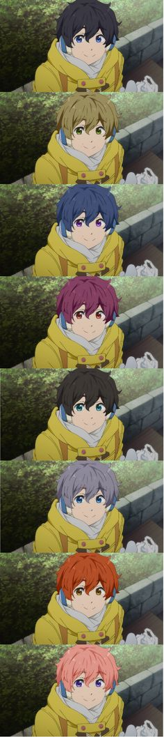 Hair Color Swap: Nagisa - The Kisumi one, tho... O.o>>the kisumione is so cute