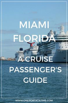 """Cruising from Miami? Check out our port guide about how to make the most of your pre or post-cruise stay. The guide includes attractions, tours/excursions, cruise parking, transportation options, and hotels with """"stay and cruise"""" parking packages.  #cruise #cruiseport #miami #florida #unitedstates  #cruiseportguide"""