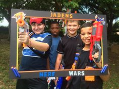 Nerf inspired birthday photo prop frame by CamiesCreativeDesign