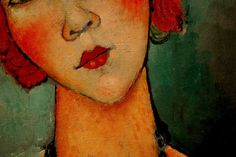 Amedeo Modigliani Particular of Woman with a necklace, 1917