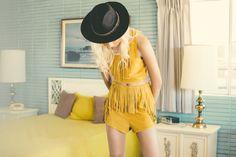 Bohemian fringe fashions