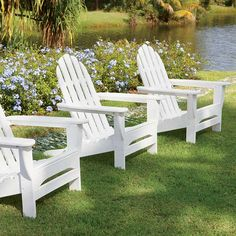 Made in USA, Made in America.  Adirondack Chairs - Never-Paint Adirondack Furniture -- Orvis on Orvis.com!