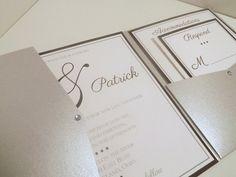 Formal Pocketfold Wedding Invitation with by RossiInvitations, $5.50