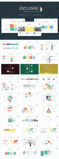 Exclusive Presentation PowerPoint. Graphic Design Infographics. $15.00