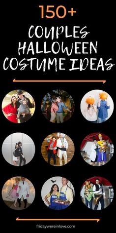 150 Halloween Costume Ideas for Couples to set you up for the best Halloween Couple Costume award! #couplecostumes #coupleshalloweencostumes #couplehalloweencostume #halloween #couplegoals #fridaywereinlove Halloween Costume Awards, Cute Couple Halloween Costumes, Halloween Crafts, Halloween Decorations, Halloween Party, Homemade Halloween, Family Costumes, Group Costumes, Halloween Couples