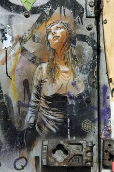 Looking Up - Street Art by C215 in East London