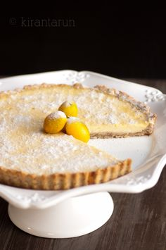 Kumquat and Almond Tart. Yes, please.