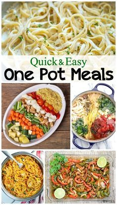 12 delicious one pot meals! They are quick & easy to make and dishes are a breeze -- you only have one pot to clean!