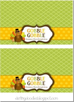gobble treat bag label printable