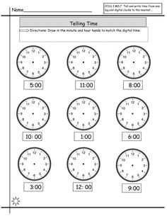 Time Elapsed Worksheets to Print | Activity Shelter