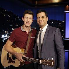 Shawn Mendes and Jimmy Kimmel | via Tumblr guitar jimmy kimmel