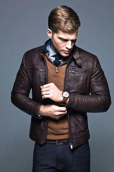 7ca83a3c17c6 33 meilleures images du tableau Veste cuir Homme   Man fashion ...