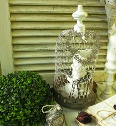 Martinel: Wire cloche vintage decor - Vintage decoration network