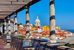 Miradouro de Santa Luzia, Lisbon Portugal