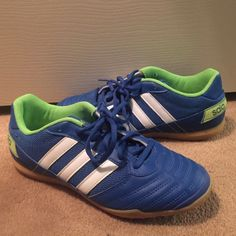 adidas indoor soccer shoes/tennis shoes! super comfy & cute shoes! love them! pre-loved. very minor imperfections. make an offer!!!! :)) Adidas Shoes Athletic Shoes