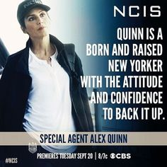 Alex Quinn joins the team in 5 days! Don't miss the #NCIS season premiere on Tuesday, Sept. 20th! @ncisalexquinn - NCIS season14