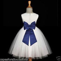 WHITE NAVY BLUE WEDDING . Flower Girl Dress  Keywords: #navyblueweddings #jevelweddingplanning Follow Us: www.jevelweddingplanning.com  www.facebook.com/jevelweddingplanning/ ..