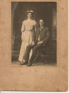 Granny's brother Joe Ross and wife Flora Campbell.