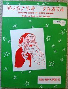 Vintage MISTER SANTA CHRISTMAS VERSION of Mister Sandman Sheet Music 1954  pic.twitter.com/vavgaHjtk5 http://www.ebay.com/itm/Vintage-MISTER-SANTA-CHRISTMAS-VERSION-Mister-Sandman-Sheet-Music-1954-/160649561271?roken=cUgayN&soutkn=HCRqjr