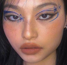 Edgy Makeup, Eye Makeup Art, No Eyeliner Makeup, Makeup Inspo, Makeup Inspiration, Beauty Makeup, Eye Makeup Designs, Cool Makeup Looks, Cute Makeup