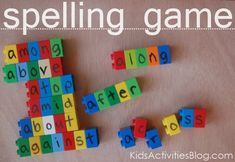 8 {FUN} spelling games for kids to play and learn. Use duplos and dry erase pen to write letters on them. Spelling Games For Kids, Spelling Centers, Spelling Activities, Spelling Practice, Spelling Ideas, Learning Activities, Teaching Kids, Kids Learning, Activities For Kids