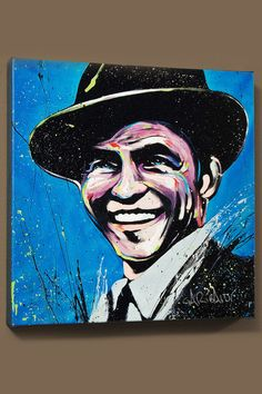 #Celebrity #Portrait Frank Sinatra (Blue Eyes), by David Garibaldi