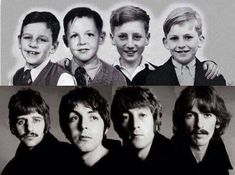 The Fab Four, before and after!