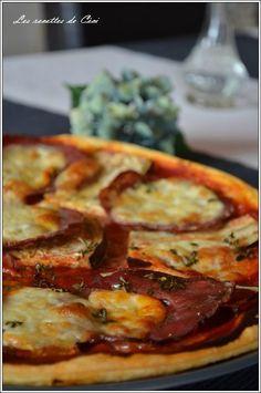 Tarte fine aubergine, coppa et mozzarella