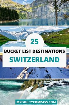 Here's my list of the 25 best places to visit in Switzerland - from beautiful lakes and stunning mountains to spectacular waterfalls and charming towns! Bucket List Destinations, Travel Destinations, Travel Diys, The Hundreds, Cool Places To Visit, Places To Travel, Grand Canyon, Gondola, Europe Travel Guide