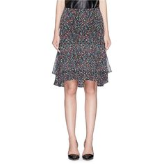 Diane Von Furstenberg 'Catherine' confetti print silk chiffon skirt ($300) ❤ liked on Polyvore featuring skirts, silk chiffon skirt, pattern skirt, diane von furstenberg skirts, print skirt and diane von furstenberg