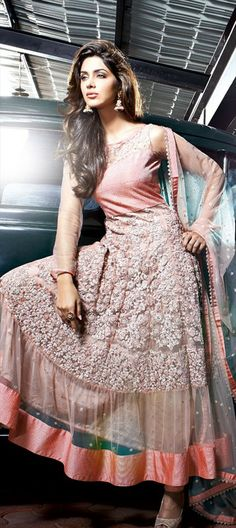 #Pastelpink Anarkali 'Cocktail Look' great for an Indian wedding
