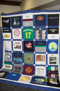 another T-shirt quilt Concerts for josh & Tiff