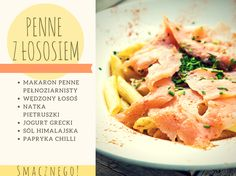 Dietetyczny makaron z wędzonym łososiem